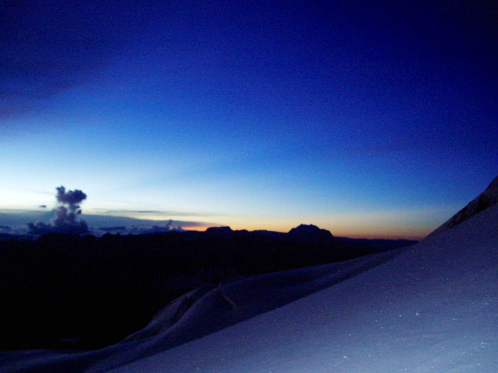 Sunrise - Illimani and Mururata
