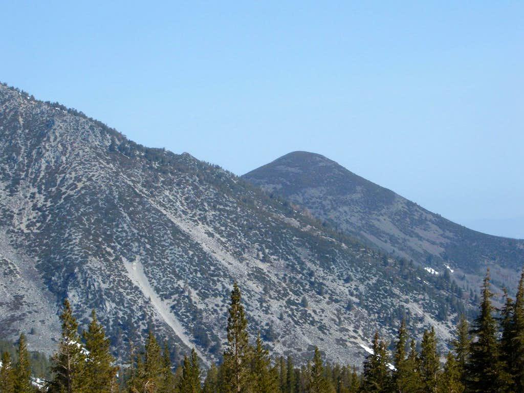 Chocolate Peak from Mount Rose Summit parking