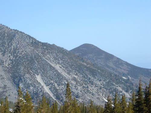 Chocolate Peak from Mount Rose Summit parking