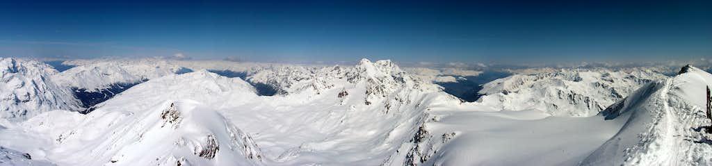 Königspitze and Ortler panorama