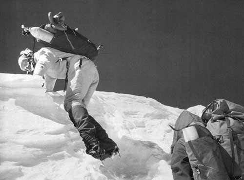 Wanda Rutkiewicz before summit of Mount Everest 1978
