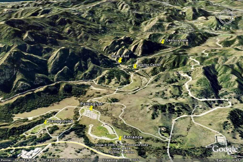 Malibu Creek State Park Google Earth Rendition Photos: Malibu State Park Map At Usa Maps