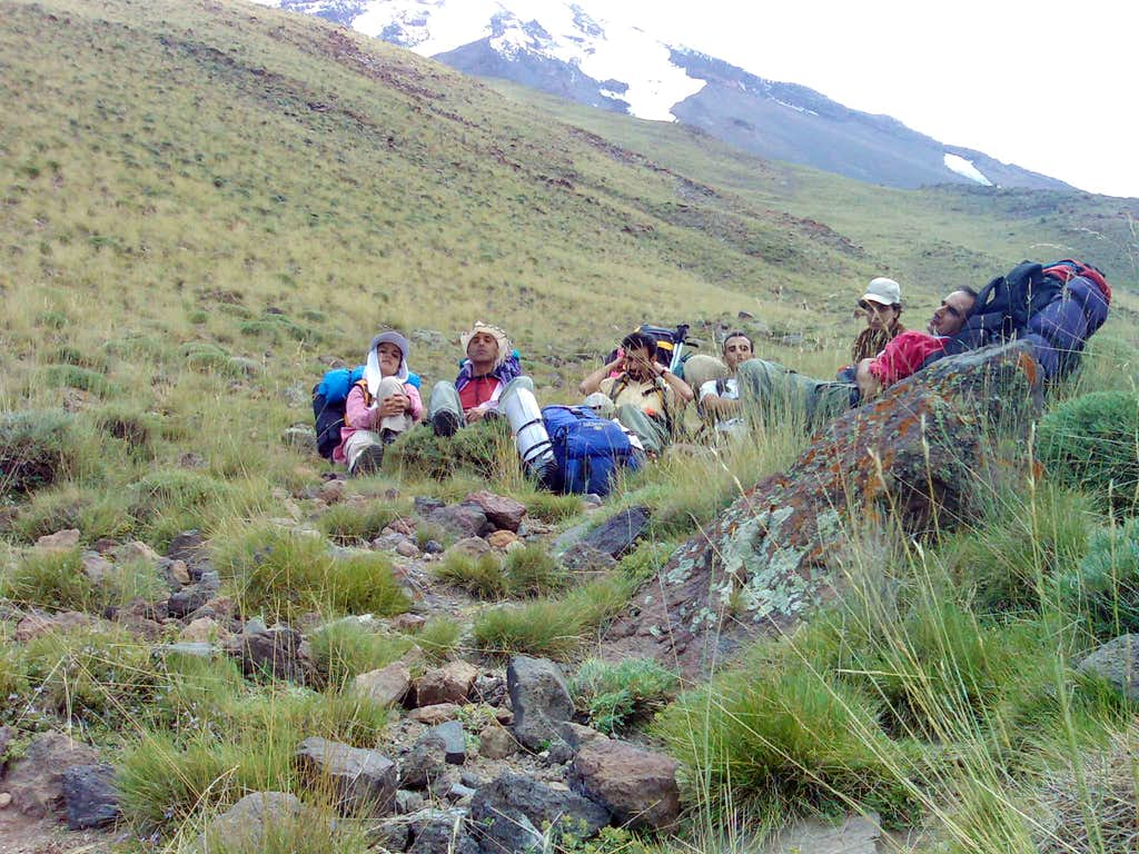 Beginning of the Way from Northern Face to Damavand Summit