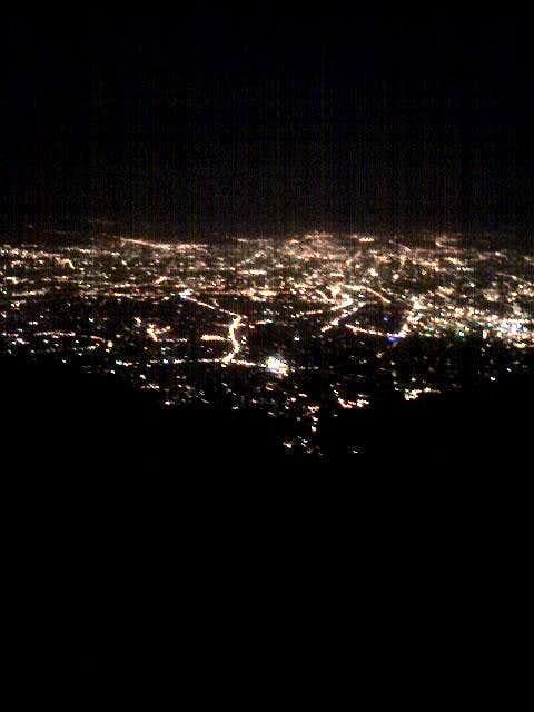 View of Tehran from Sange Siah Camp (Ali Amiri Camp)… the way to Tochal Peak
