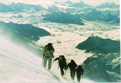 Climbing Mt. Elbrus during...