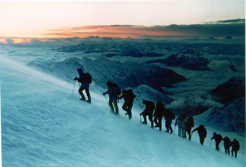 Just before sunrise on Mt....
