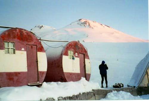 Barrels Huts and Elbrus in...