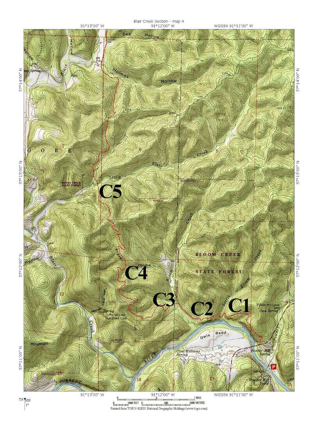 Campsites, Blair Creek Section #4, Ozark Trail