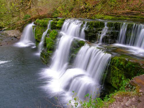 Lower Clun-Gwyn waterfall