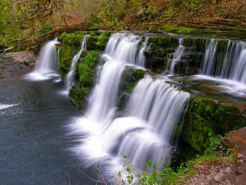Lower Clun-Gwyn waterfall