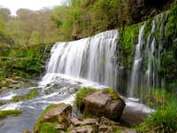 Middle Clun-Gwyn waterfall