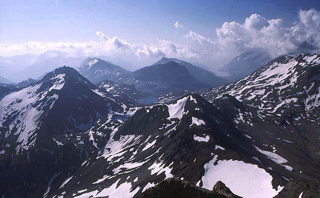 View from the summit of Piz...