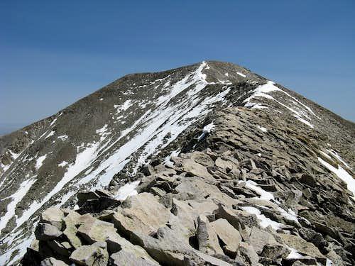E Spanish summit ridge