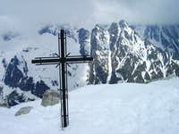 Summit cross of Slavkovský štít