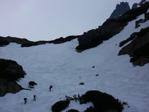 Ascending the first glacial cirque