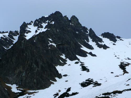 Wall and summits of Predné Solisko