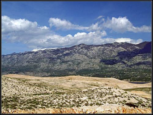 Velebit from Rab