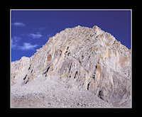Columbine Peak's Spiky Helmet & Clouds