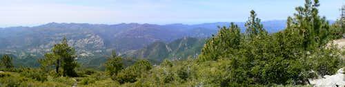 Junipero Serra Peak Summit Panorama