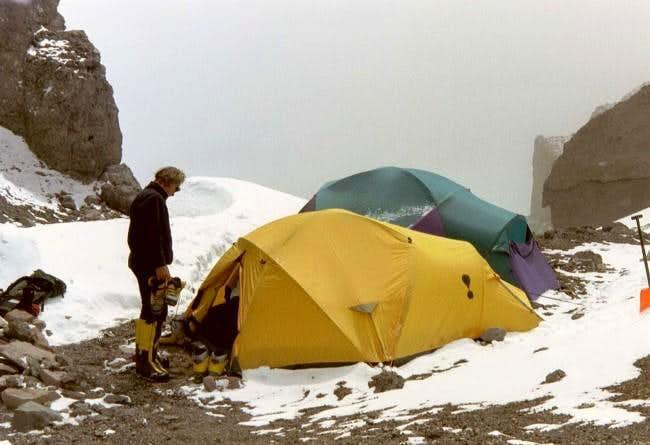 Camp 2 at 19,200 feet. Image...