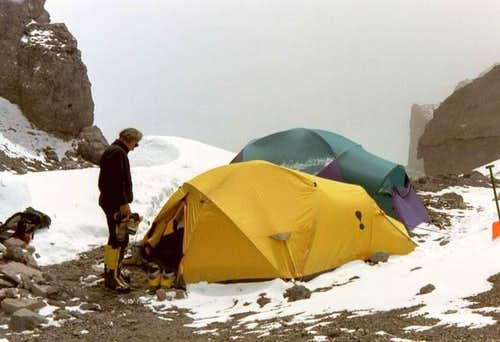 Camp 2 at 19,200 feet. Image...