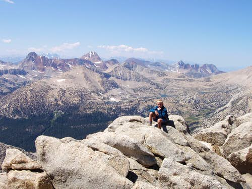 At the summit area of Mt. Starr
