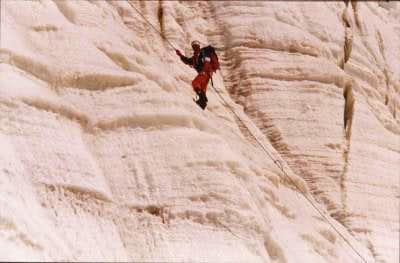 Me, on the first ascent of...