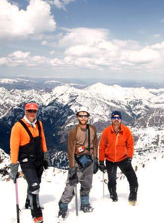 Lubos, me, and Bard on the west Twin Peak