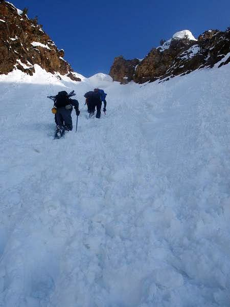 Chris, Walt, and Lubos approaching Tanners saddle