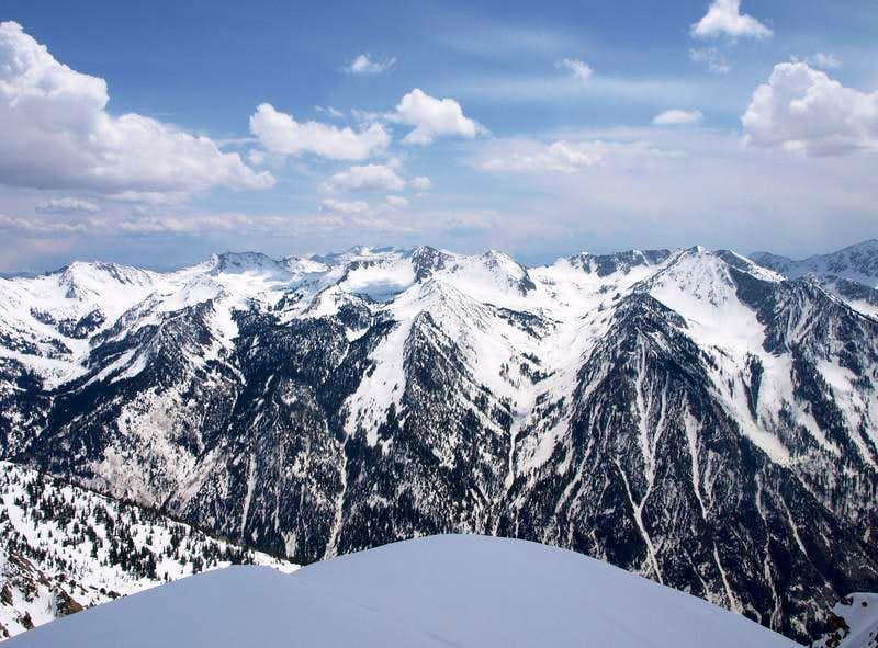 Alpine Ridge from the west Twin