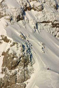 Mali Triglav ascent