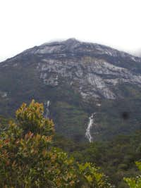 A view of the upper mountain