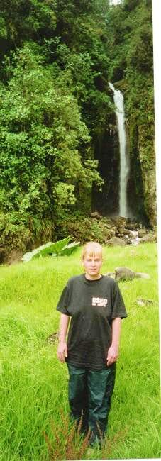 Waterfall on the approach...