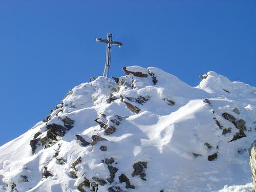Summitcross of Nadelhorn 4327m