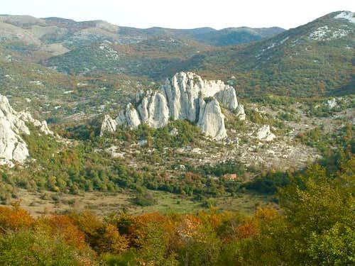 View from Dabarska kosa pass...
