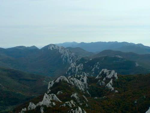 View from Bacic kuk through...