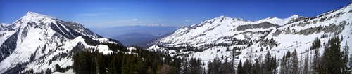 panorama - box elder from above the saddle