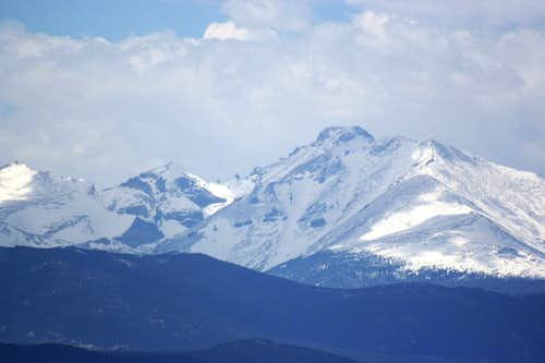 Longs Peak from Bear Peak
