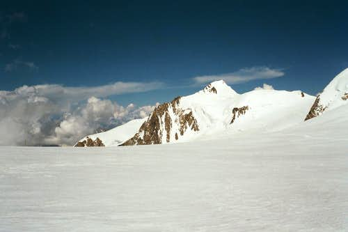 Mont Maudit with its WSW Face and Éperon Gousseault