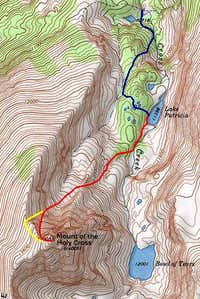 Map of Angelica Couloir...