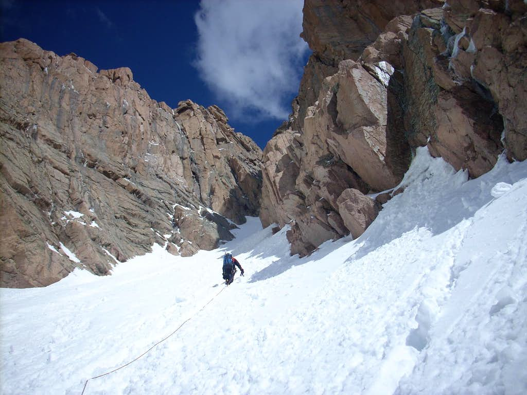Me Heading Up 1st Snow Pitch