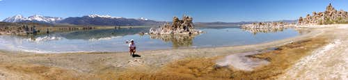 Panoramic view of Mono Lake 5/17/08