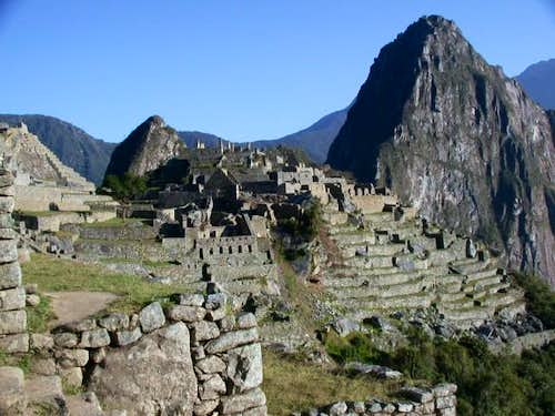 Huayna Picchu rising above...