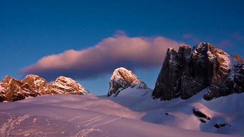 Alpenglow on Dachstein