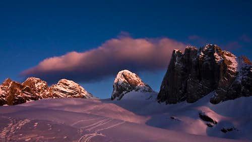 Alpenglow on Dachstein