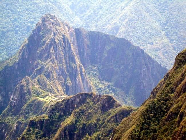 Huayna Picchu rising above...