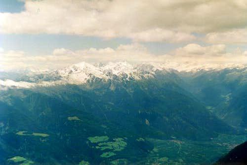 View from Kirchbachspitze