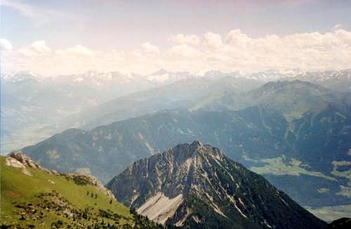 View toward Zillertaler Alps from Rofan
