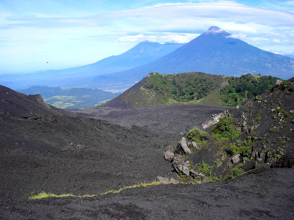 Agua seen from the lava fields of Pacaya