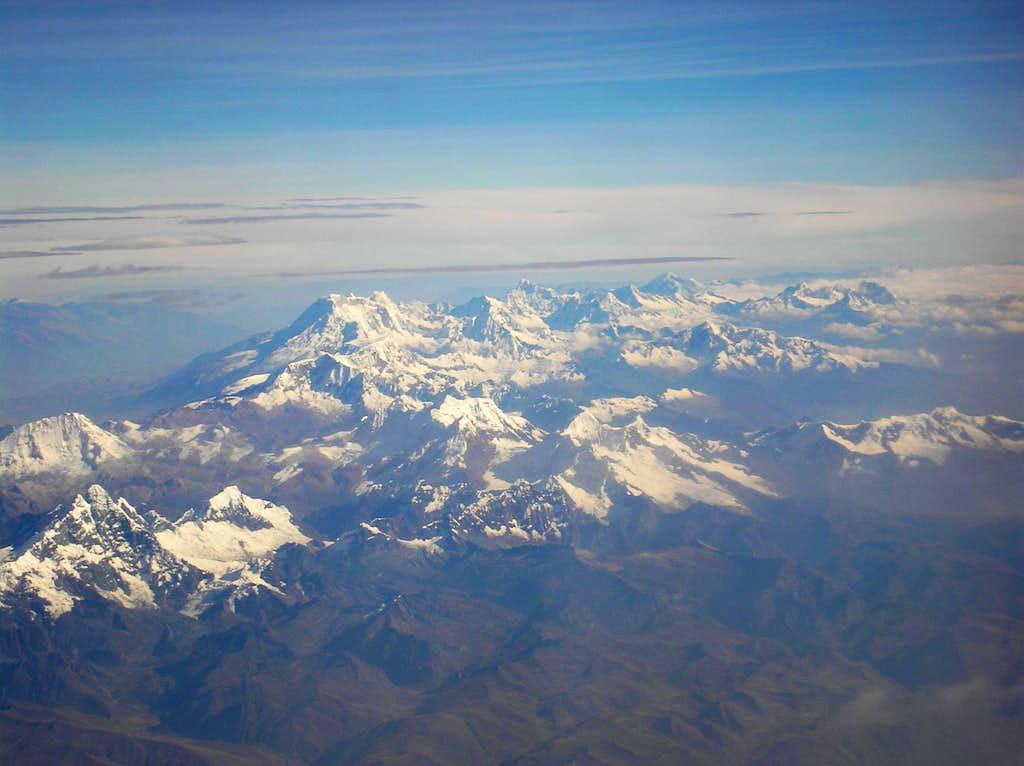 Cordillera Blanca from above